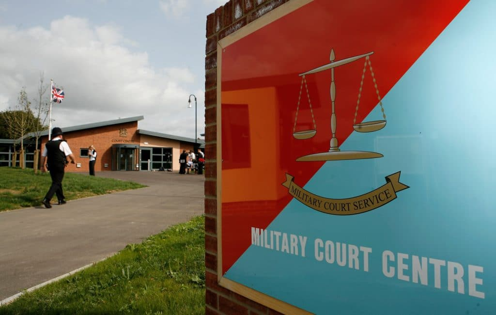 The trial for queer Royal Navy commander Sally-Anne Bagnall is being heard at Bulford Military Court