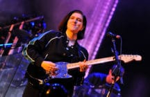 Romy Madley Croft performing with The xx