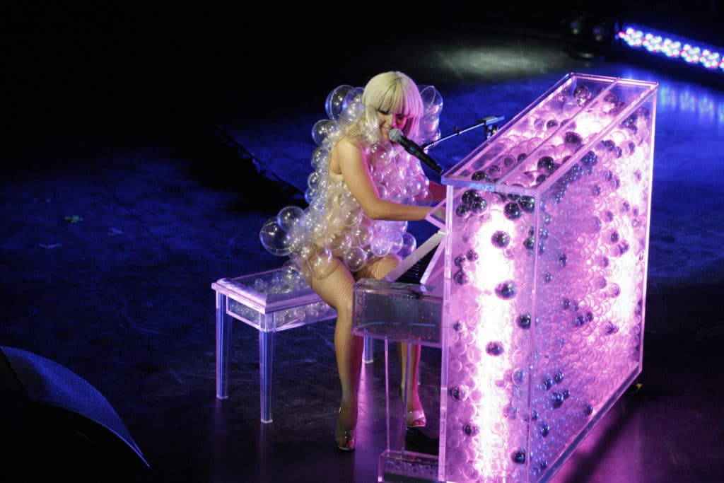 Lady Gaga performs at The GRAMMY Celebration Concert Tour in 2009. (Chris Polk/FilmMagic)