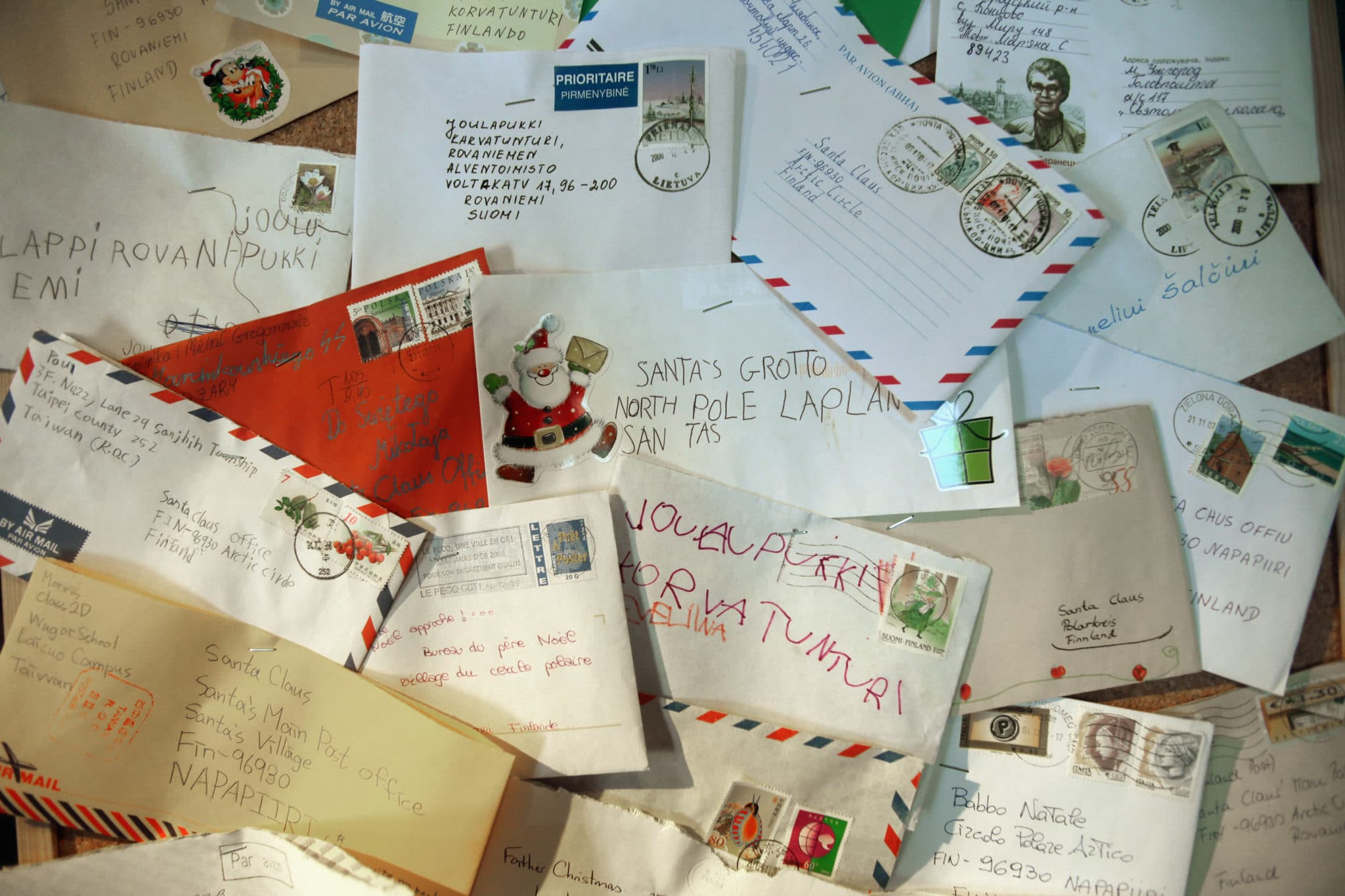 Santa gets thousands of letters each year