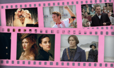 Film reels showing images from the five films in this article