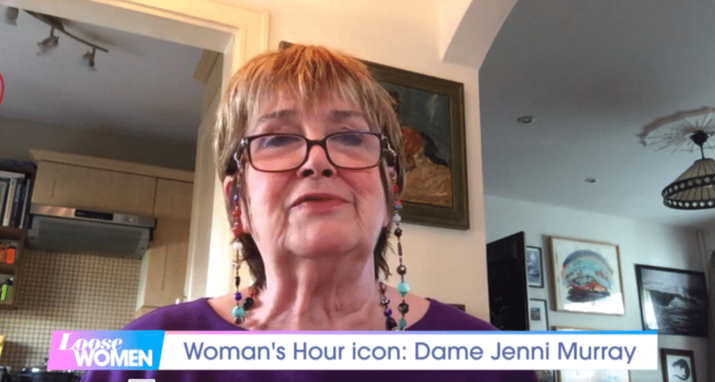 """Dame Jenni Murray appeared on Loose Women and reiterated her """"transphobic"""" views."""