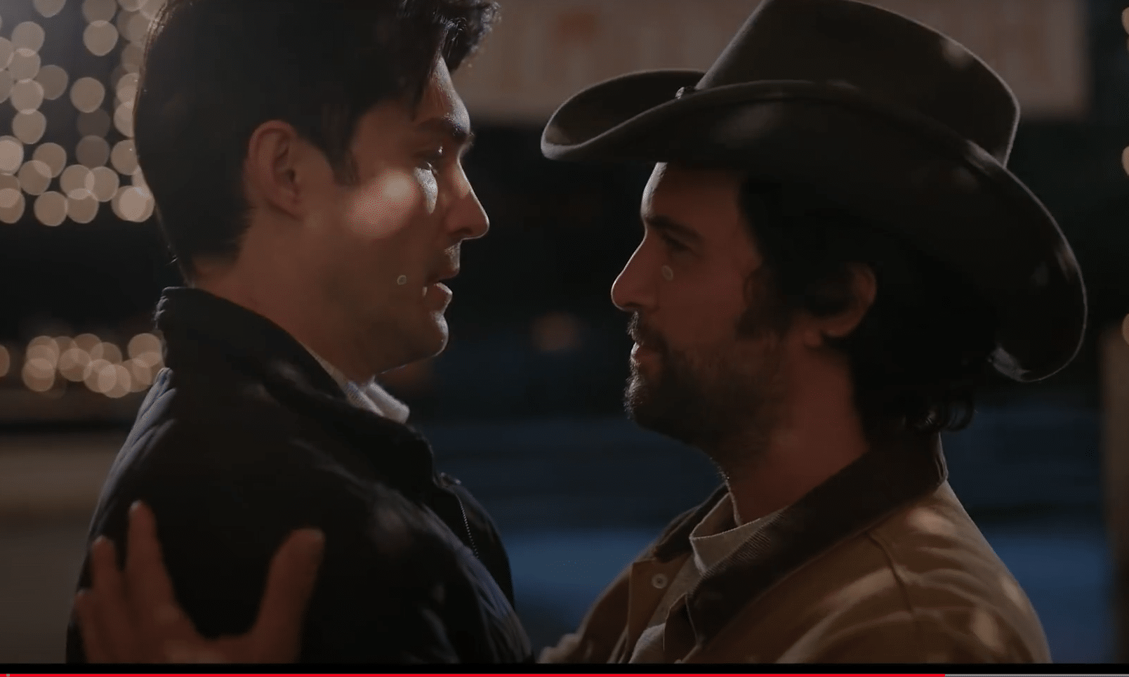 Andie 1 Fortnite Dashing In December Trailer First Look At Gay Cowboy Christmas Movie