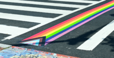 Progress Pride pedestrian crossing