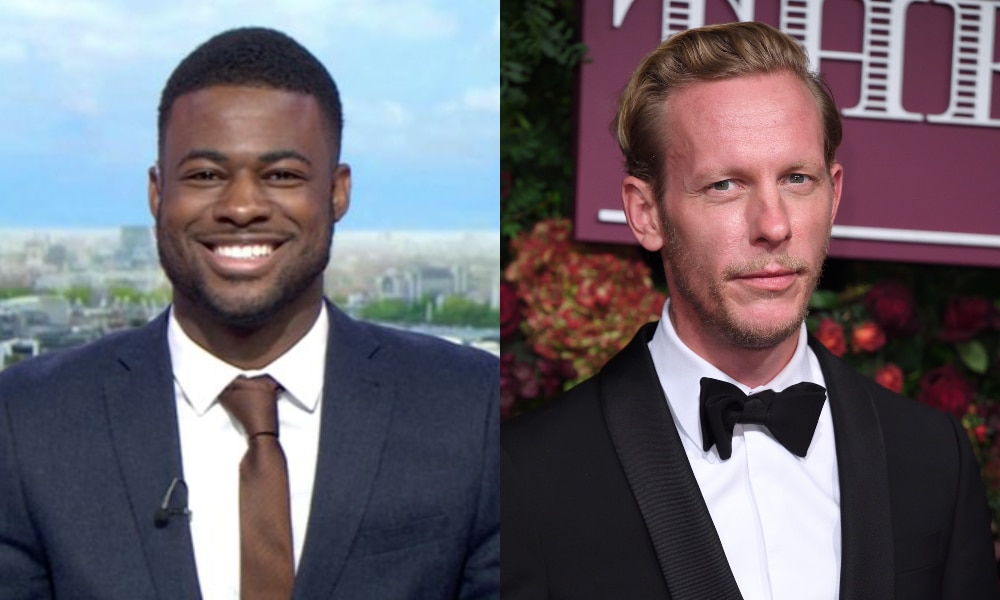 A side-by-side of Ben Hunte and Laurence Fox, both wearing suits