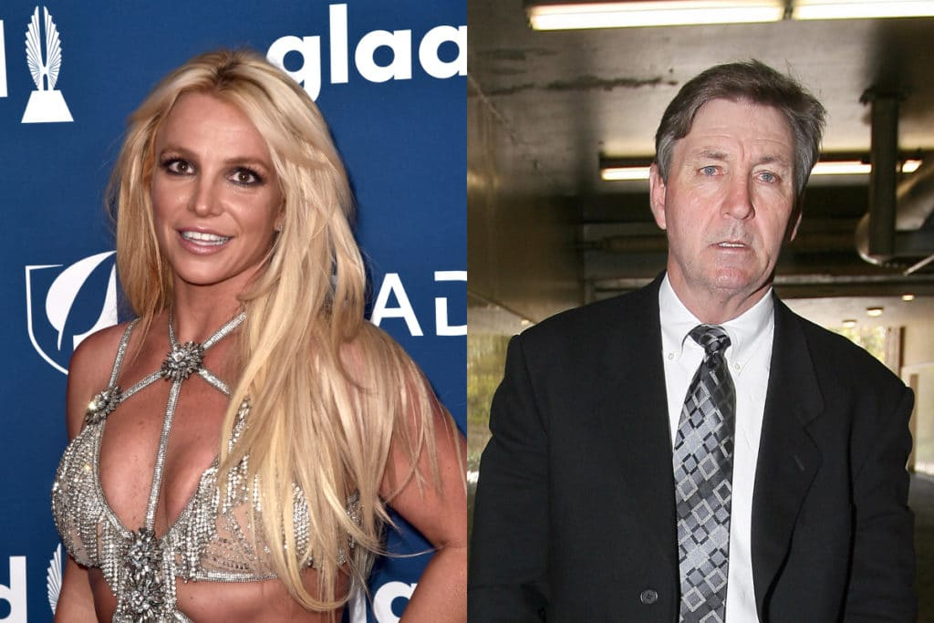Britney Spears and her father, James 'Jamie' Spears. (Getty)