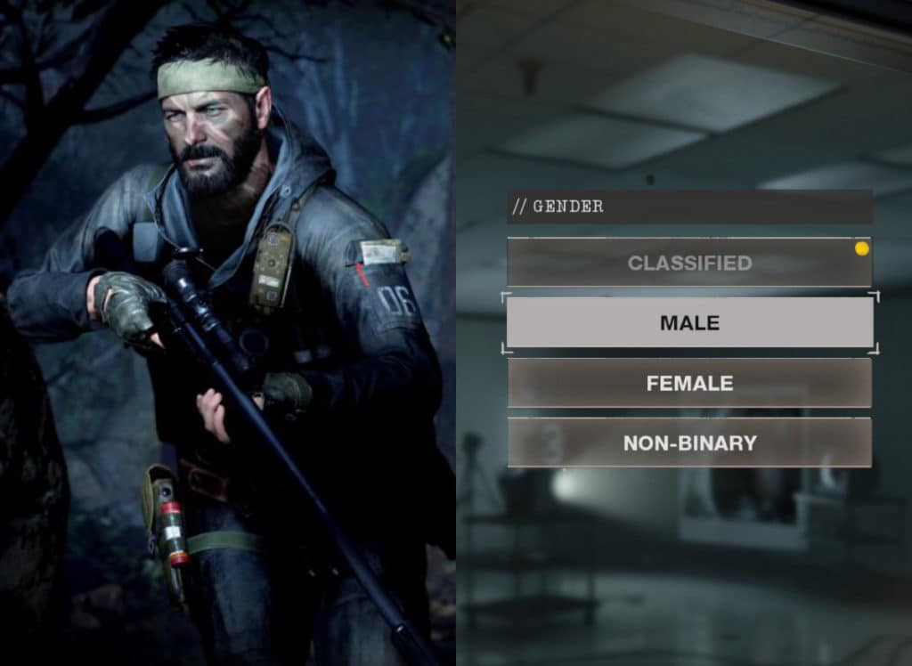 Call of Duty: Black Ops Cold War will let players choose from four gender options: 'Classified', 'male', 'female' and 'non-binary'. (Activision)