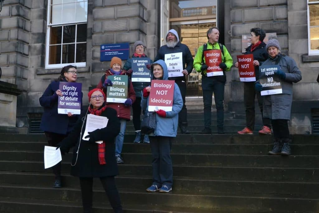 Anti-trans pressure group For Women Scotland.