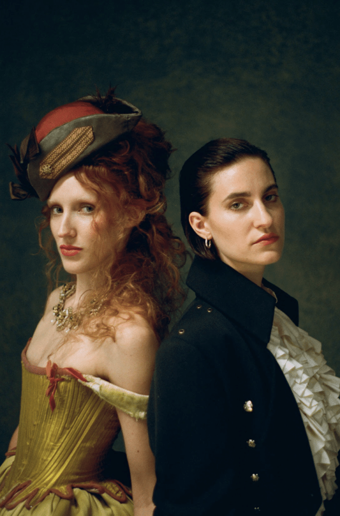 Michelle Fox as Anne Bonny with Erin Doherty as Mary Read