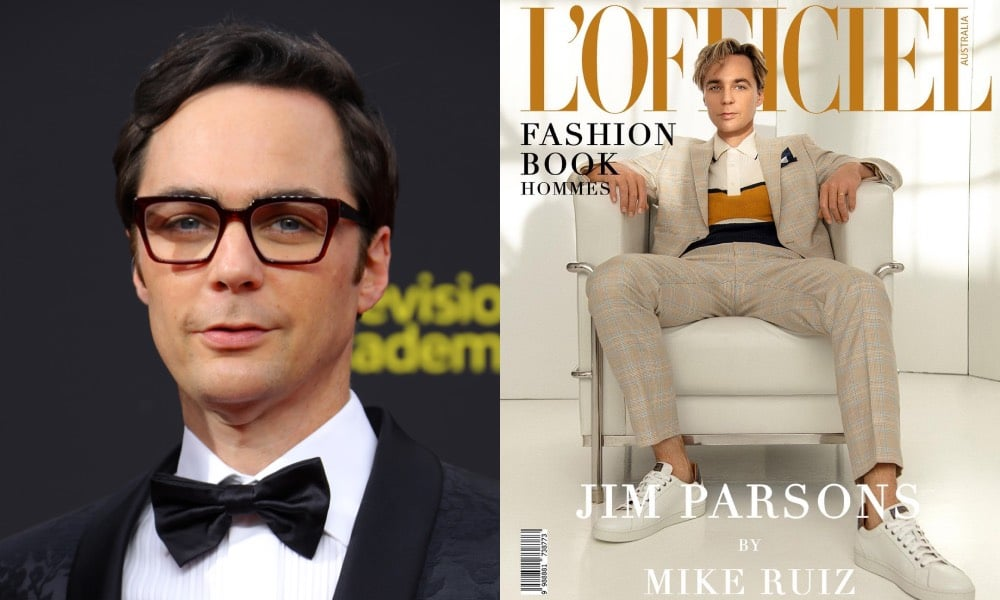 Jim Parsons on the cover of L'Officiel Australia