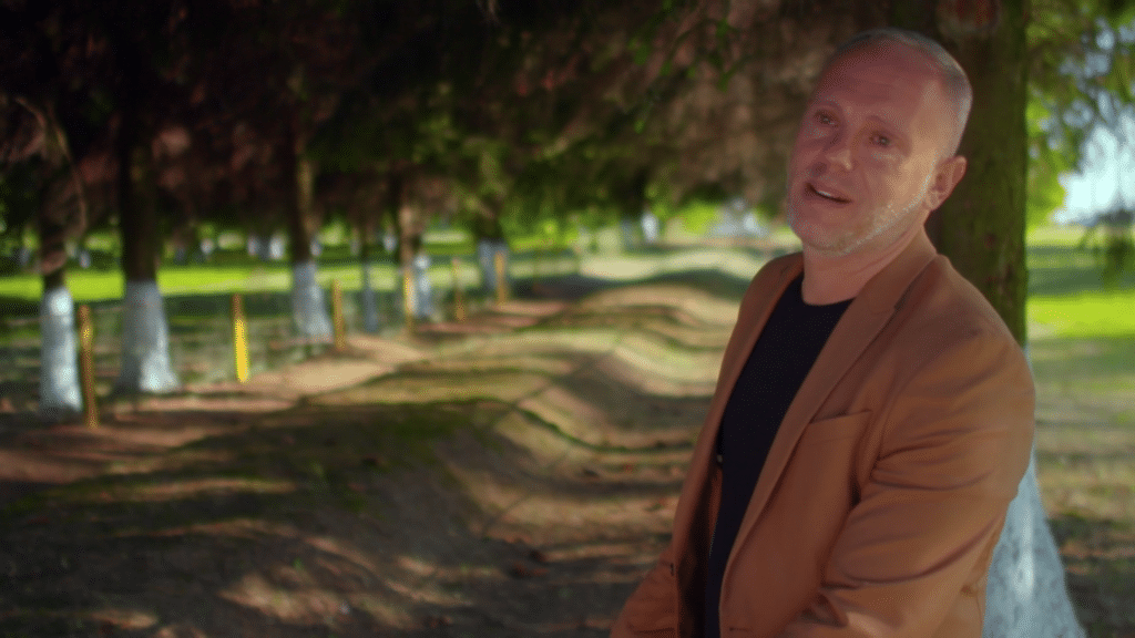 Rob Rinder visits a mass grave of Holocaust victims