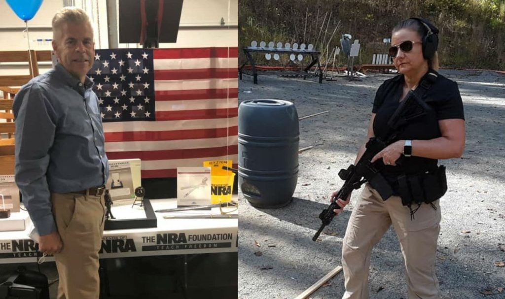 Gun-toting anti- LGBT+ Republicans Kirk Cox (left) and Amanda Chase (right) are both running for Virginia governor