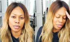 Laverne Cox addresses the camera