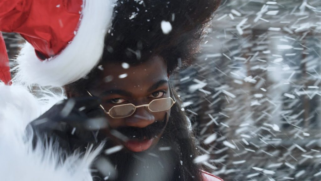 Lil Nas X as the time-travelling Santa Nas X.