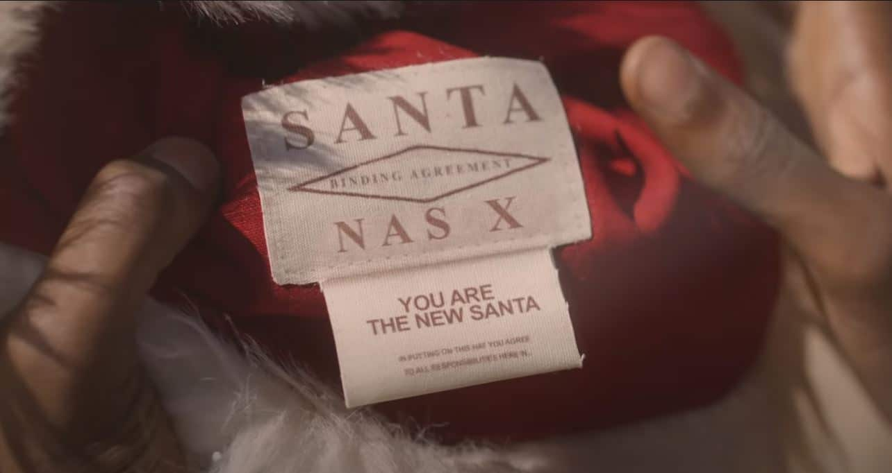 The Lil Nas X teaser trailer pays tribute to Santa Clause and Back to the Future