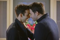 Brad Harder and Mean Girls' Jonathan Bennett touching foreheads