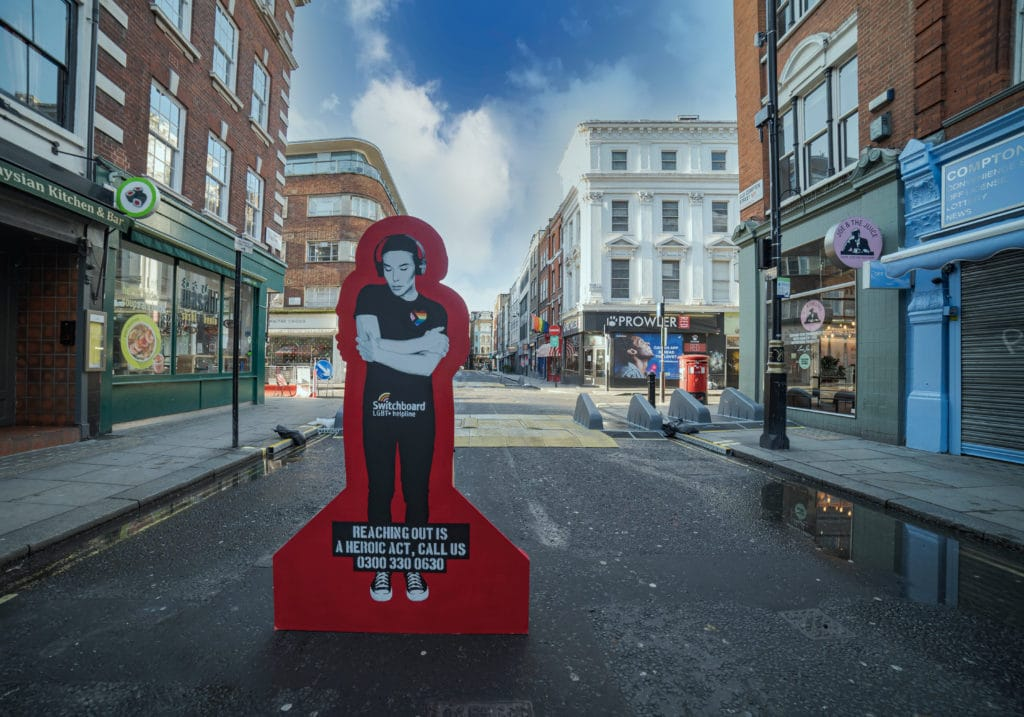 Switchboard has teamed up with street artist Pegasus to create an artwork promoting the helpline number over the holidays.