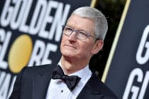 Apple CEO Tim Cook attends the 77th Annual Golden Globe Awards