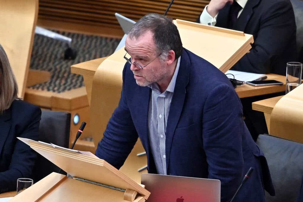 Andy Wightman speaking in the Scottish Parliament