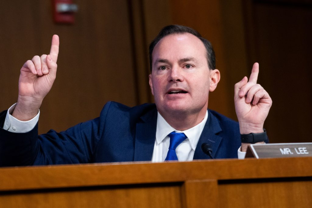 Republican Senator Mike Lee of Utah, a fervent opponent of LGBT+ rights