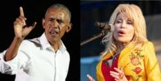 Former president Barack Obama and future president Dolly Parton