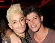 Zach Rance and Frankie J Grande pose together, Rance's arm around Grande