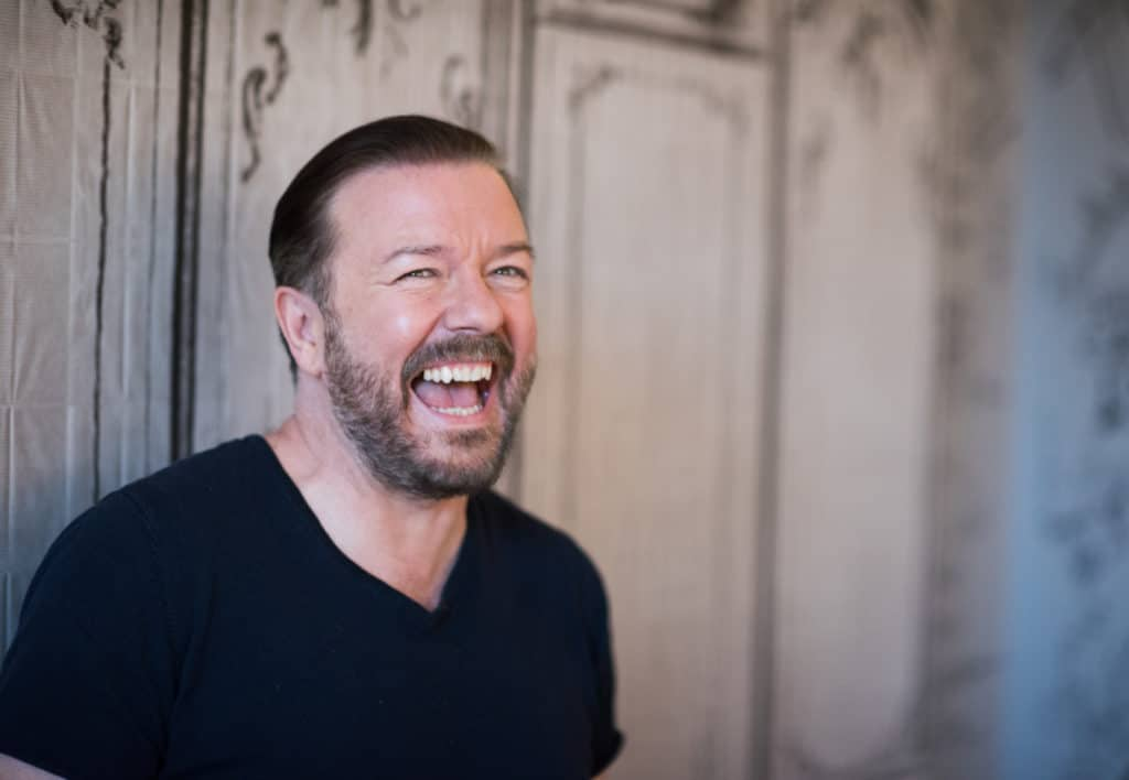 """Ricky Gervais has responded to Frankie Boyle's criticism of his """"lazy"""" reliance on transphobic jokes"""