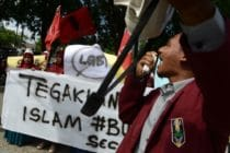 Indonesia LGBT protest