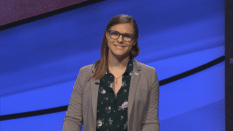 Jeopardy! champion Kate Freeman, a financial analyst from Lake Orion, Michigan