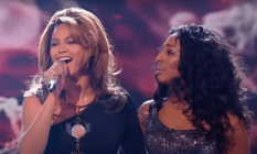 Beyoncé and Alexandra Burke singing Listen duet on the X Factor