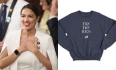 Alexandria Ocasio-Cortez and her 'Tax The Rich' sweatshirt
