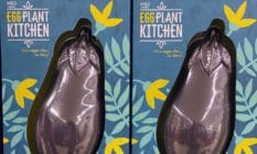 An aubergine-shaped Easter egg by Marks and Spencer