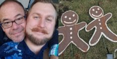 Gay couple's Christmas gingerbread men smeared with faeces