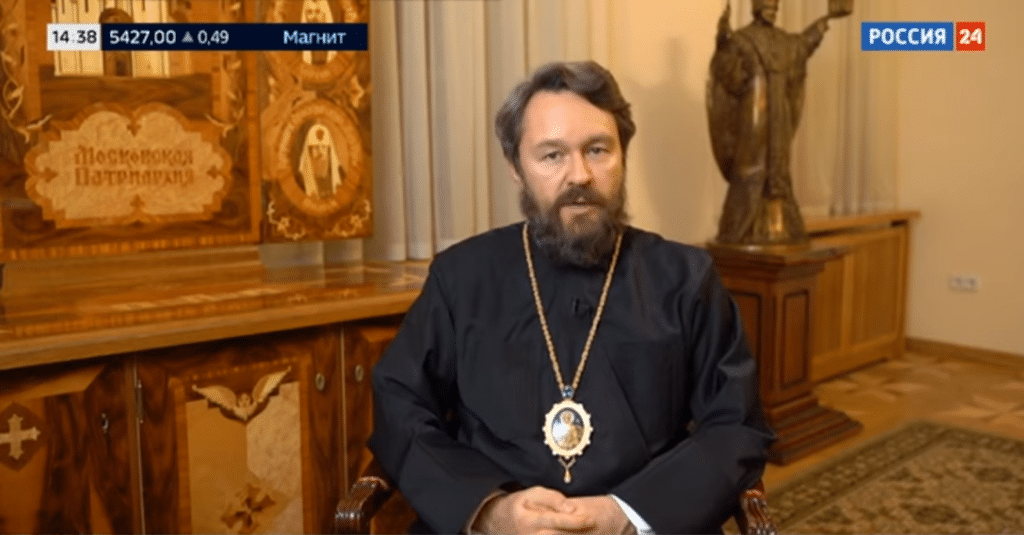 Bishop Hilarion Alfeyev, head of the Department of External Church Relations, took to Russian state TV earlier this month to attack the US president-elect