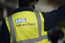 Man wearing NHS Test and Trace gilet
