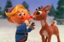 Rudolph the red-nosed reindeer (R) and Heremy the Elf