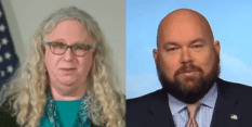Conservative radio host Chris Stigall raged at Dr Rachel Levine.