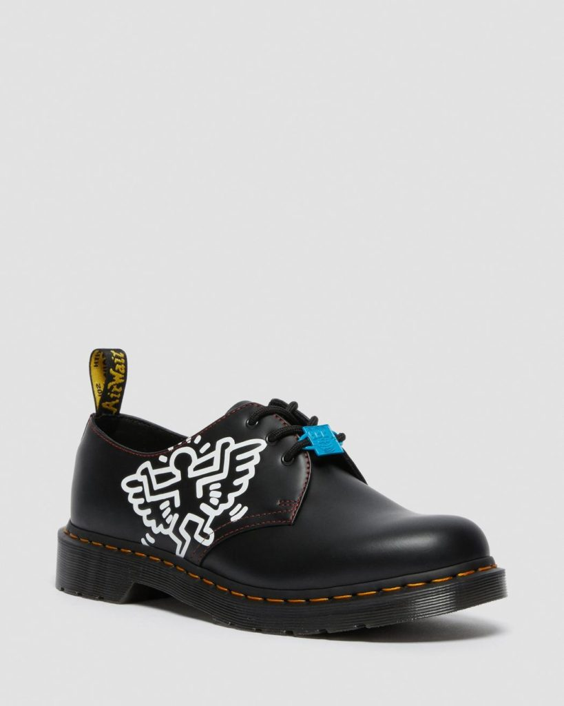 The classic Dr. Martens shoe features Haring's angel design. (Dr. Martens)