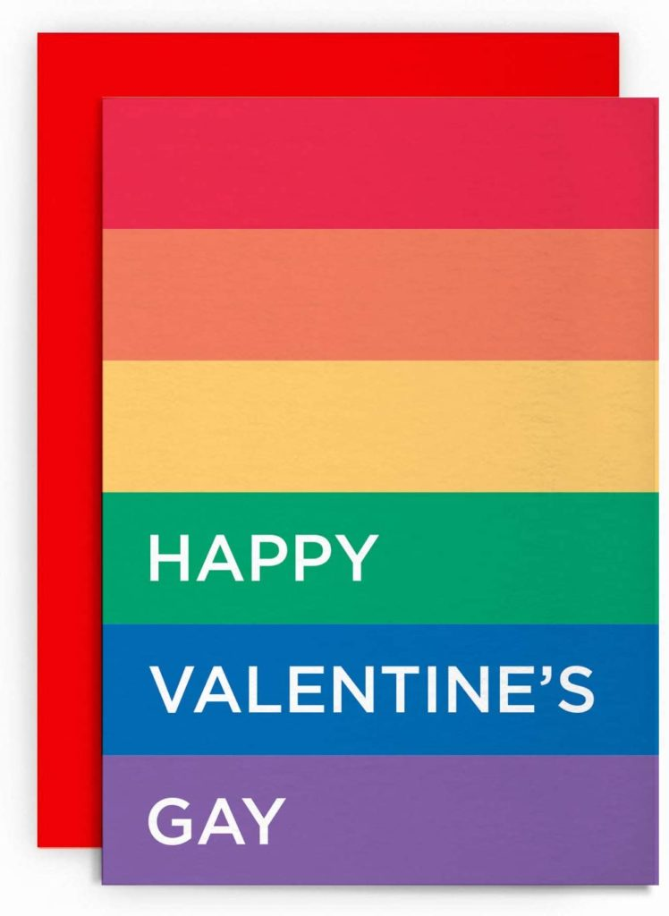 The Happy Valentine's Gay card