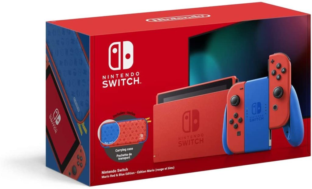 The upcoming Mario version of the Nintendo Switch, which will be released on 12 February. (Amazon/Nintendo)