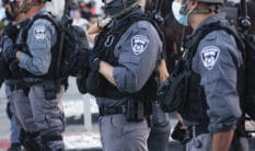 Police officers in Haifa, Israel.