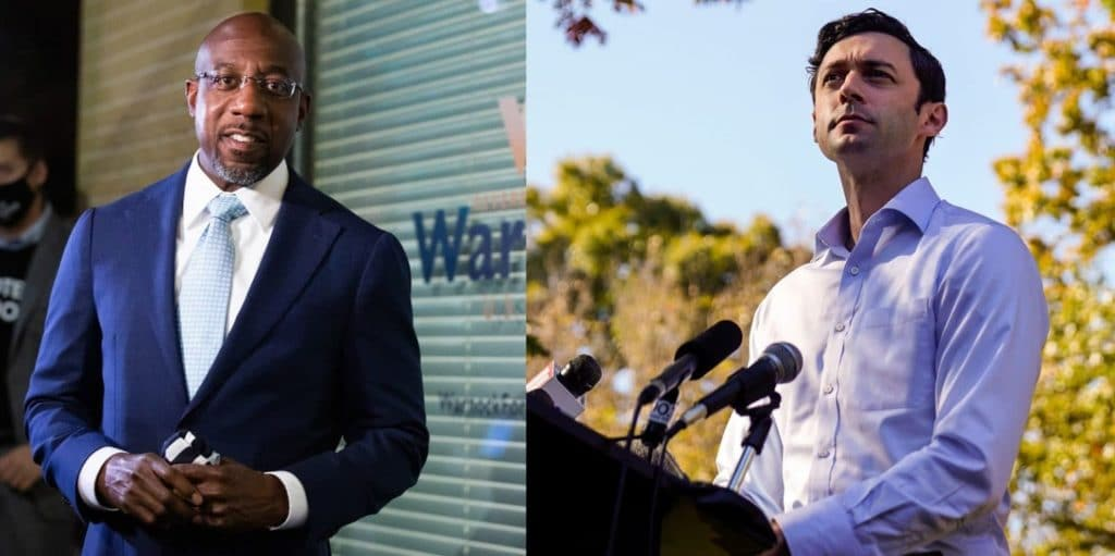 Georgia Democratic senators elect Rev Raphael Warnock and Jon Ossoff