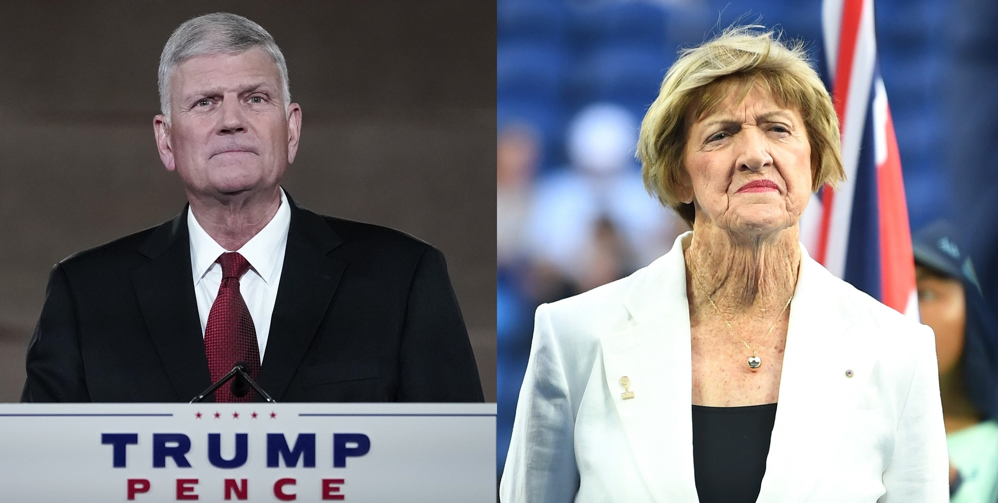 Franklin Graham claimed that Margaret Court was simply 'quoting the Bible'