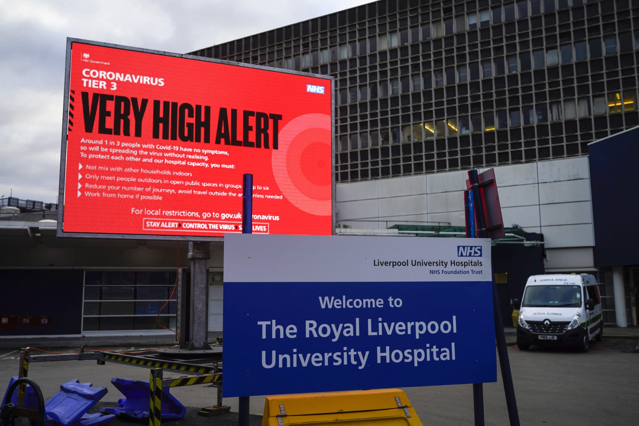 A sign outside the Royal Liverpool University Hospital