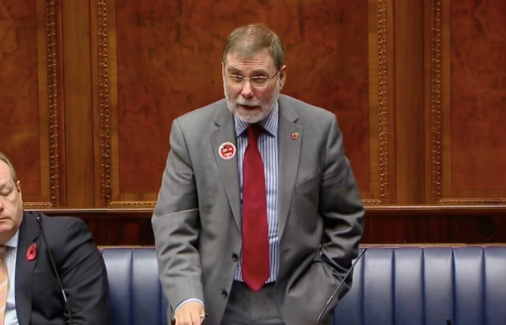 Nelson McCausland DUP conversion therapy