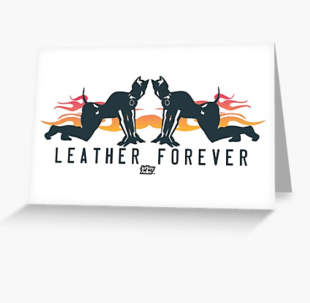 The Leather Forever Valentine's Day card