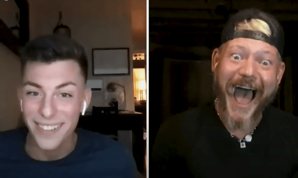 Gay son and his gay dad have emotional sex talk during Truth or Drink.