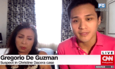 Gregorio de Guzman with his mother, famous Filipino singer Claire dela Fuente