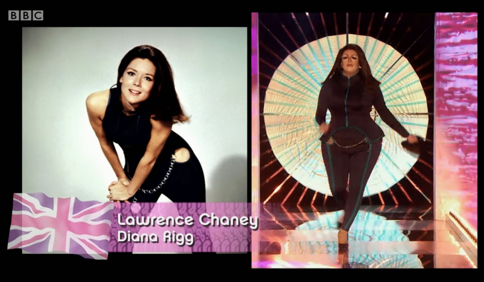 Lawrence Chaney as Diana Rigg, LGBT, drag race uk