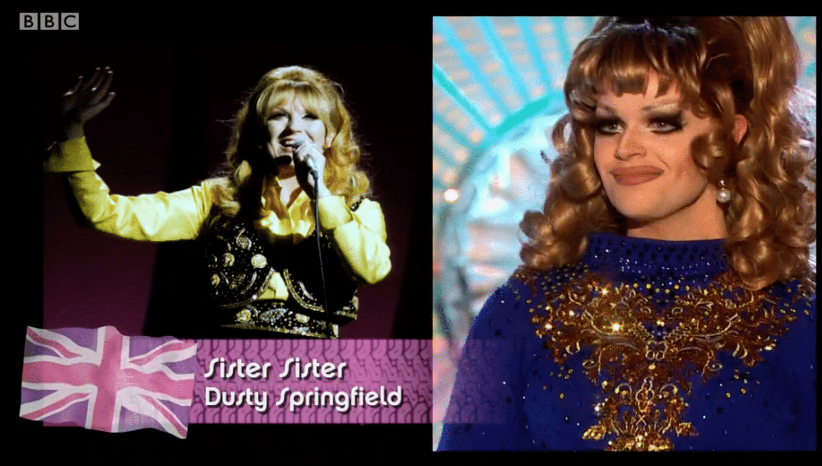 Sister Sister as Dusty Springfield, LGBT, drag race UK